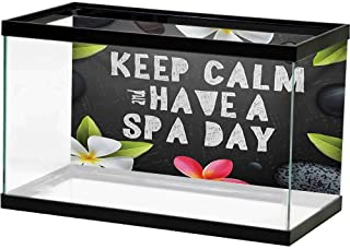 bybyhome Image Decor Zen,Keep Calm Have a Spa Day Quote Healthcare and Beauty Treatment Graphic Stones Flowers,Multicolor Various Patterns