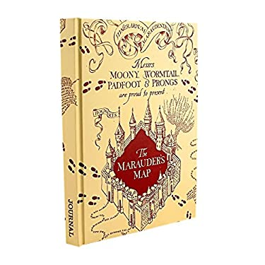 Silver Buffalo Harry Potter Mischief Managed Marauders Map Hard Cover Journal, 6 x 8 inches