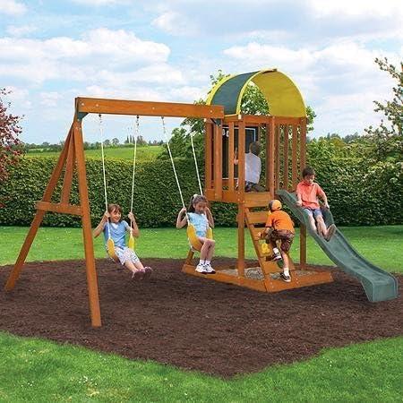 Cedar Premium Wooden Swing Set - Best Wooden Swing Sets