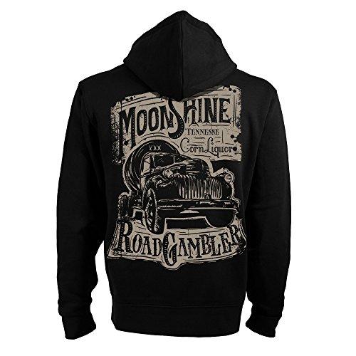 ROAD RODEO Kapuzenpullover, Hoodie, Zip, Jacke, Rock'n'Roll, V8, Schnaps, Moonshine