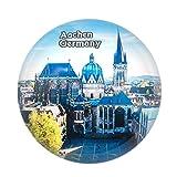 Aachener Dom Deutschland Kühlschrankmagnet 3D Kristallglas Touristische Stadt Reise Souvenir Sammlung Geschenk Starke Kühlschrank Aufkleber