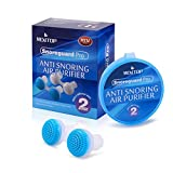Anti Snoring Devices,Silicone Nose Clip Air Purifier Nose Breathing Apparatus Mini Nose Buds Snore Stopper 2 Pairs(Blue)