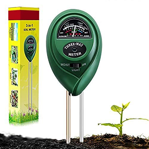 Suplong Soil PH Testing Kit 3 in 1 Plant Soil Tester Kit With PH, Light &...