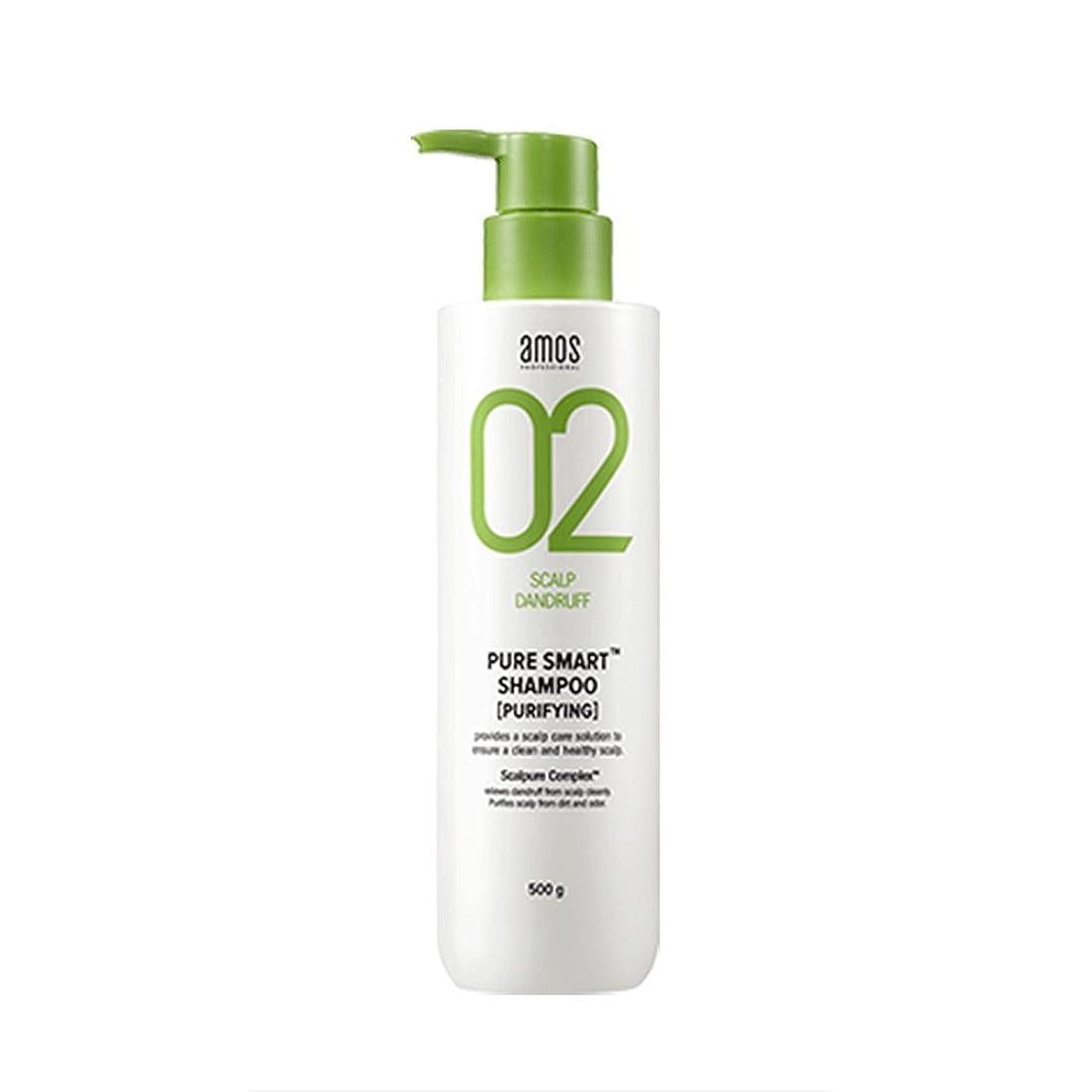 誘惑超高層ビル台風Amos Pure Smart Shampoo 500g Dandruff Shampoo フケ専用シャンプー [並行輸入品]
