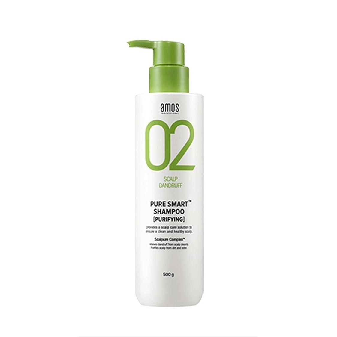 注釈タンクドナーAmos Pure Smart Shampoo 500g Dandruff Shampoo フケ専用シャンプー [並行輸入品]