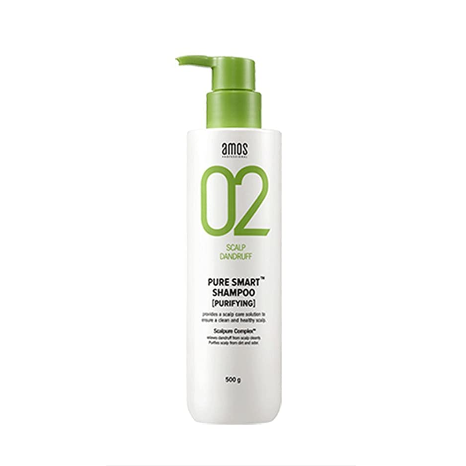 海岸直感文化Amos Pure Smart Shampoo 500g Dandruff Shampoo フケ専用シャンプー [並行輸入品]