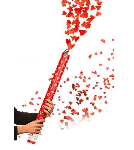 Herzenregen Feuerwerk Fontäne mit roten Herzen