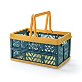 QAVILFLY Cestas de compras plegables, cestas plegables de...
