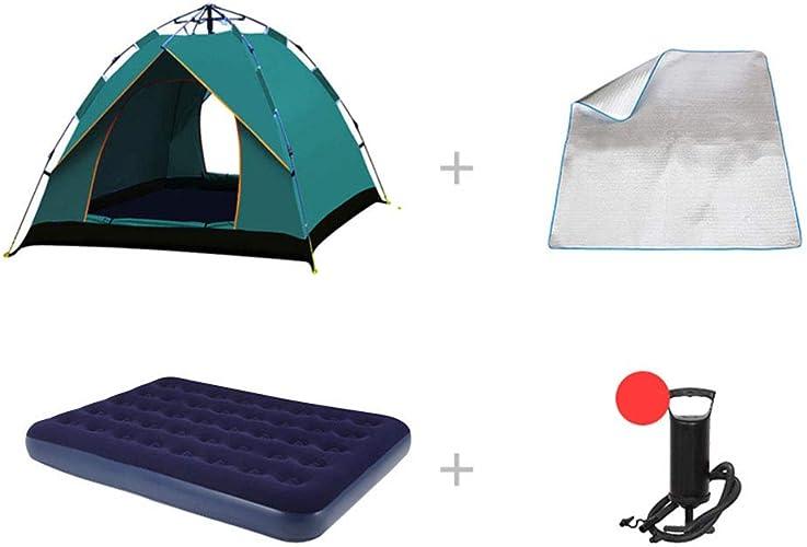1-1 Tente d'alpinisme + lit Double Gonflable 3-4 Personnes en extérieur épaissir Imperméable Camping Sauvage équitation Pêche Aventure Tente,D