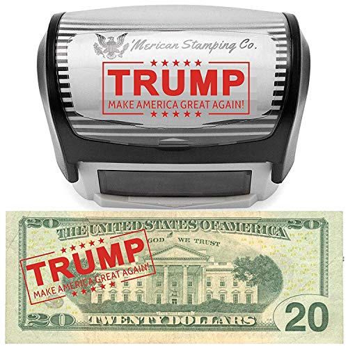 Donald Trump Make America Great Again Stamp by 'Merican Stamping Co. MAGA Stamp Self Inking Rubber Stamp Donald Trump Lives Here Stamp Donald Trump Stamp Red Ink