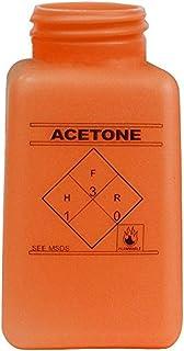 "MENDA 35492 High-Density Polyethylene Dispensing Bottle, ESD Dissipative durAstatic, Printed""Acetone"", 6 oz, 4 fl. oz. Cap..."