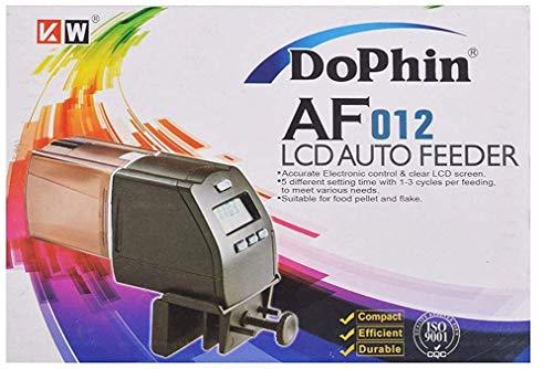 Futterautomat AF012 mit LCD Display, Fischfutterautomat Automatische Fisch-zuführung Futterspender mit Timer für Fischfutter Aquarium Aquarien Fisch Tank Teich