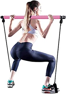 HORKEY Pilates Resistance Bands and Yoga Toning Bar Portable Home Gym Total Body Workout Kit Resistance Band Multifunction...