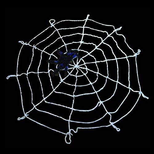 Decorazioni da Parete di Halloween Ragnatela da Appendere Ornamenti per La Casa da Esterno per Interni per La Casa Halloween Party Horror House,Bianca,3m