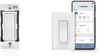 Leviton DD0SR-DLZ Dual Voltage 120/277VAC Decora Digital/Decora Smart Matching Switch Remote AND Decora Smart Wi-Fi 15A Universal LED/Incandescent Switch, Works with Amazon Alexa,White