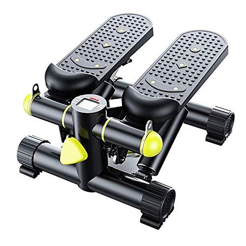 FMOGE Aerobic Mini Stepper Multifuncional para El Hogar con Monitor LCD con Cordón Y Alfombra, Máquina De Pies para Principiantes para Gimnasio De Oficina, Soporte De Carga 130 Kg
