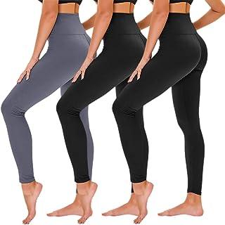TNNZEET High Waisted Leggings for Women Regular & Plus Size Tummy Control Work Out Full Length Leggings-Stretch Opaque Slim