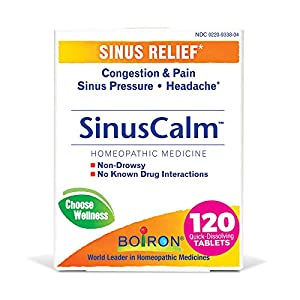 Homeopathic multi-symptom sinus Relief medicine: congestion, sinus pain, sinus pressure, and sinus headache Targets sinus pain with a stuffy or runny nose Non-habit forming, no risk of a rebound effect, and won't mask symptoms of a more serious condi...