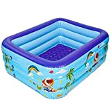 TYUIO Mildily piscina inflable, Grueso seguridad inflable fiesta en la piscina de agua de alimentación de verano for los niños del bebé adulto, seguro y duradero ajustable en altura, tamaño: 2.1M, Col
