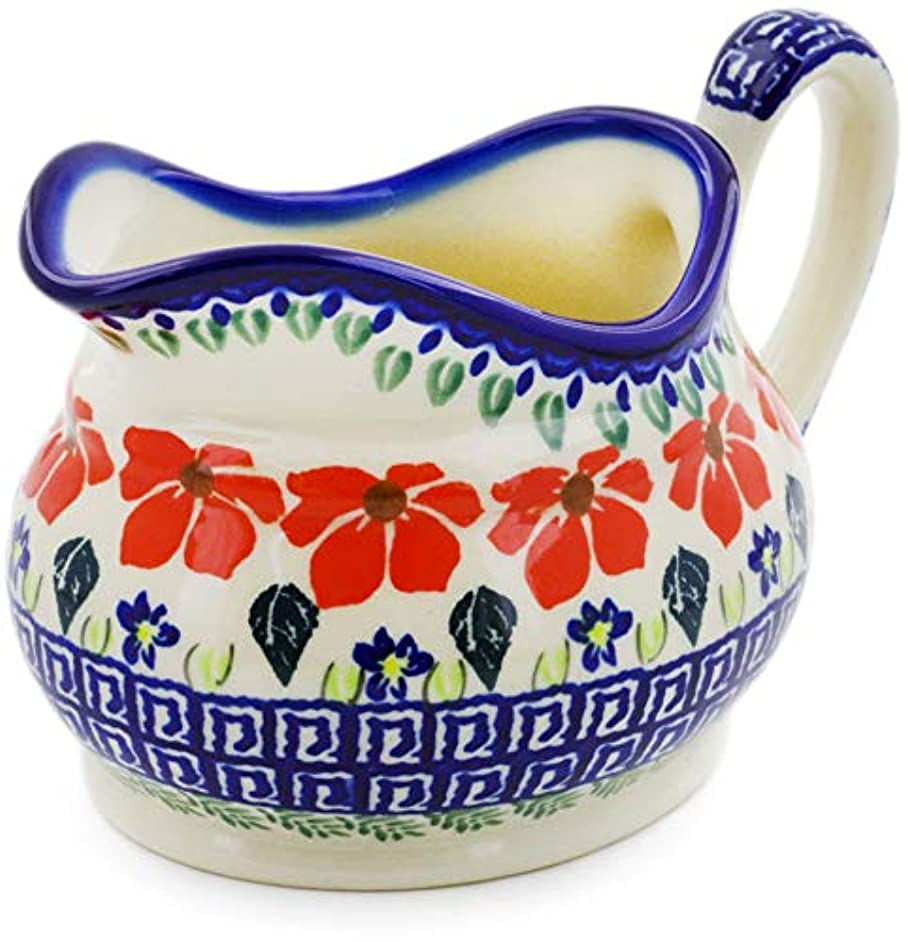 Polish Pottery 18 oz Gravy Boat (Grecian Fields Theme) + Certificate of Authenticity