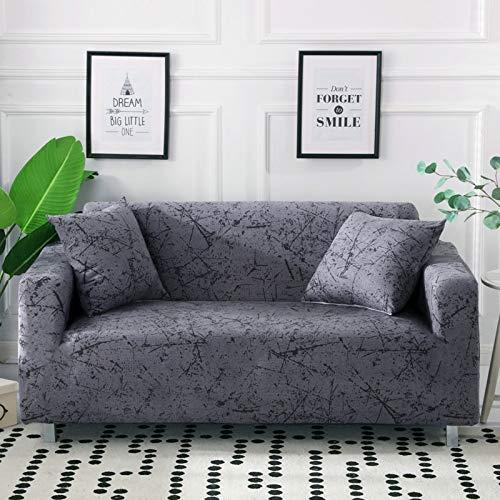 PPOS Fundas de sofá con Estampado geométrico para Sala de Estar, Funda elástica elástica, Fundas seccionales para sofá de Esquina, A8, 4 Asientos, 235-300cm-1pc