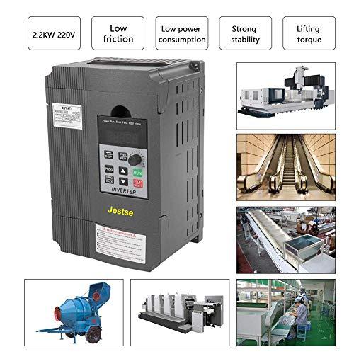 VFD 2.2 KW AC220V 12 A,Variador Unidad de Frecuencia Variable Monofásico a Trifásico,Convertidor de Frecuencia Variable de Control Pwm,Rápida Respuesta de Inicio y Parada