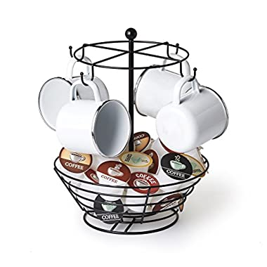 NIFTY 8830 Storage Basket Coffee Cup Carousel, One Size, Black