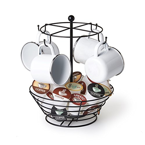 Nifty Solutions 8830 Storage Basket Coffee Cup Carousel One Size Black
