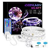 LED Lights for Bedroom 65.6FT - Cozylady Music Sync LED Strip Lights- LED Light Strips Room Decor for Bedroom Aesthetic