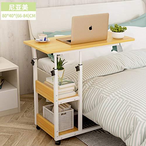 Nachtkastje LKU Huishoudelijk afneembaar nachtkastje bank heftafel opvouwbare schrijftafel lui bureau, chocolade