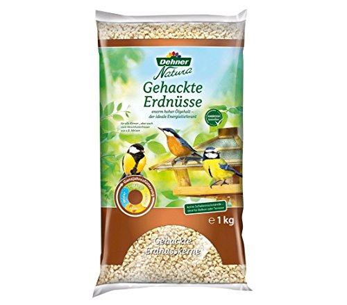Dehner Natura Wildvogelfutter, gehackte Erdnüsse, 1 kg