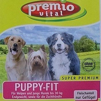 Premio Vital 15 kg Puppy-Fit | Welpen Trockenfutter glutenfrei | Reis + Mais| Fleischanteil nur Geflügel | Das Trockenfutter für Welpen und Junghunde bis 30 kg Endgewicht
