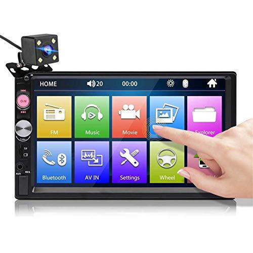 AutoradioAutoradio da 7 Pollici 2 DIN Autoradio HD Touch Screen Multimediale Lettore MP5 FM Bluetooth TF USB con Fotocamera PosterioreSistemi Multimediali per Auto