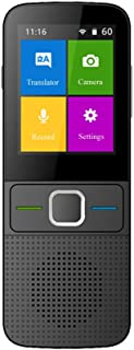 OXSII Smart Language Translator Device with WiFi or Hotspot 2.4 Inch Touch Screen Support 14 Languages Offline and 137 Languages Online Real Time Translate Support Recording & Photo Translation Black