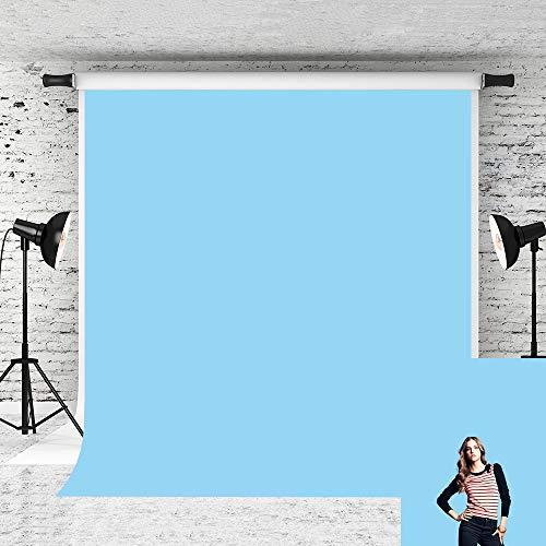 Little Lucky 5x7ft Baby Solid Blue Backdrop Pure Color Photo Background Vinyl Sky Blue Backdrops Photographer Headshot Portrait Shoot Prop Studio
