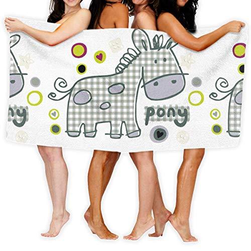 Toallas de Piscina absorbentes Toallas de Mula Preciosas Súper Suaves, lujosas, Ultra absorbentes y de Secado rápido ecológicas