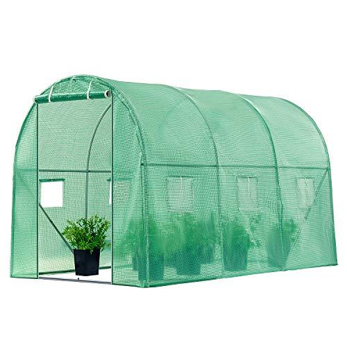 VIVOSUN 10x7x7FT Large Walk in Greenhouse Tunnel Garden Plant Hot House