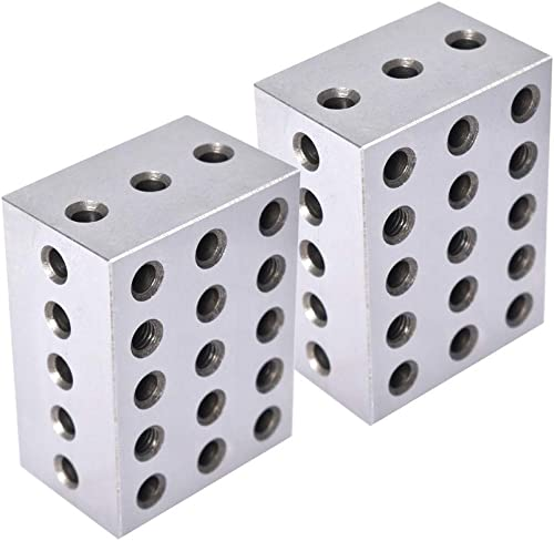 "high quality 2-3-4 Blocks Matched Pair 23 wholesale Holes (2""x3""x4"") outlet online sale 234 Precision Ground Machinist Set Up Blocks .0003"" HRC 55-62 outlet sale"