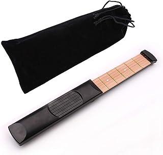 ポケットギター実用ミニ練習ツール6弦4フレットポータブル軽量トレーニングギタースキル