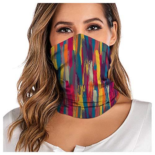 WERVOT Multifunktionstuch Schlauchschal Unisex Bedruckte Gesichtsmaske Face Shield Atmungsaktiv Schlauchtuch Halstuch Schutzmasken Outdoor UV Staubschutz Mund-Tuch Motorrad Fahrrad Joggen Schal (DB)