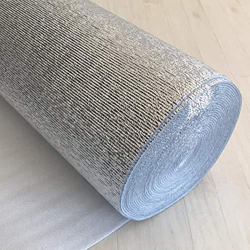 訳あり 山五 アルミ保温シート ロール 3mm厚 アルミシート 銀マット アルミロールマット (幅120cm×長さ19m)
