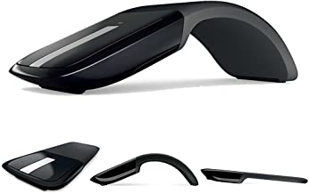 Arc Optical Touch Wireless Mouse Folding Mouse with USB 2.4GHz Receiver Suitable for PC Laptop MacBook
