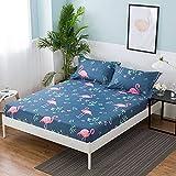 CYYyang Protector de colchón/Cubre colchón Acolchado, Ajustable y antiácaros. Sábana Antideslizante Todo Incluido de Color puro-36_150 * 200 * 25cm