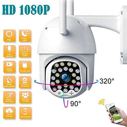 Buy Bargain WiFi Dome Wireless Surveillance Camera HD PTZ Home Security Outdoor Waterproof Mobile Ph...