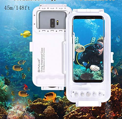 Egurs Universal Tiefseetauchen-Handy-Kasten 45m / 147ft Foto-Video, das Wasserdichten Schutz-Kasten für Androide OTG Smartphones unter 6.5inch mit Art-C Hafen nimmt