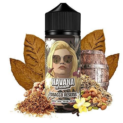 E-Liquid TOBACCO RESERVE | 100ML TPD | HAVANA DREAM | Sin Nicotina: 0MG | E-Liquido para Cigarrillos Electronicos - E Liquidos para Vaper 70/30