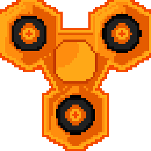 Fidget Spinner Pixel Art - Paint by Number, Sandbox Coloring Book Pages