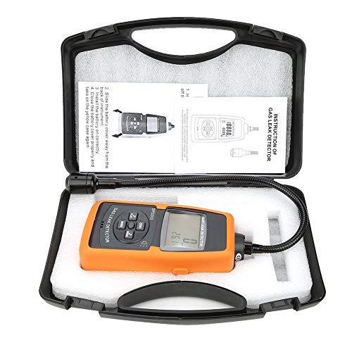 Gaslecksuchgerät, Akozon SPD203 Methangas-Leckprüfgerät mit Sound- und Lichtalarm 0-10000ppm 0-20% UEG Tragbarer Prüfgerät
