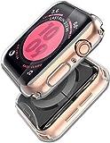 anye cover compatibile con apple watch 44mm custodia tpu full protezione in vetro temperato integrata,pellicola protettiva vetro temperato iwatch 44mm apple watch series 5 series 4 se 44mm