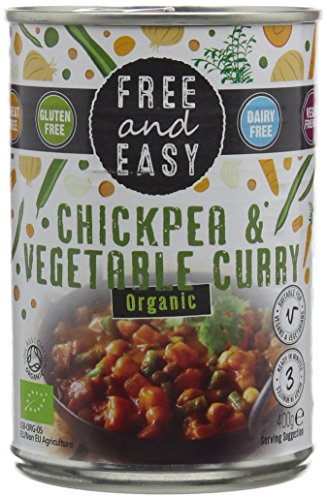 Free and Easy Organic Chick Pea Vegetable Curry 400 g (Pack of 6)